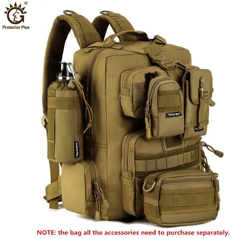 حقيبة ظهر للكمبيوتر المحمول مقاس 14 بوصة ، حقيبة ظهر عسكرية 30 لتر ، متعددة الوظائف ، نايلون مقاوم للماء ، للسفر