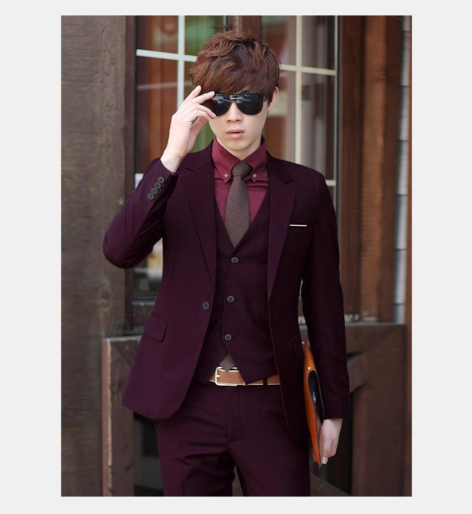(Kurtka + Spodnie + Tie) luksusowe Mężczyzn Garnitur Mężczyzna Blazers Slim Fit Garnitury Ślubne Dla Mężczyzn Kostium Biznes Formalne Party Niebieski Klasycznej Czerni 9