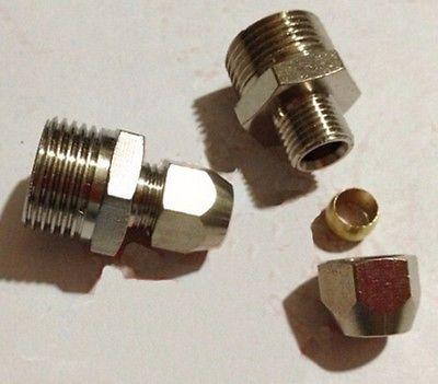 5 uds M6 métrica rosca macho latón Fit de 4mm acoplador de tubo OD adaptador de conector racor de compresión para tubería