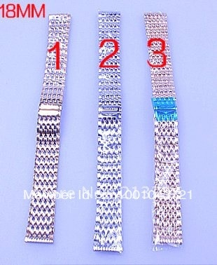 Retail - 1PCS 18MM High quality solid stainless steel watch band strap 3 color available