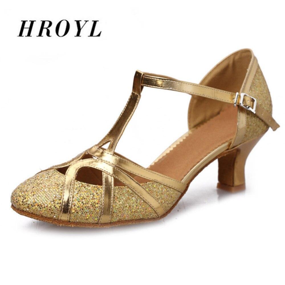 Design glitter ouro sapatos de dança moderna sapatos de dança para senhoras meninas 5cm/7cm salto alto atacado
