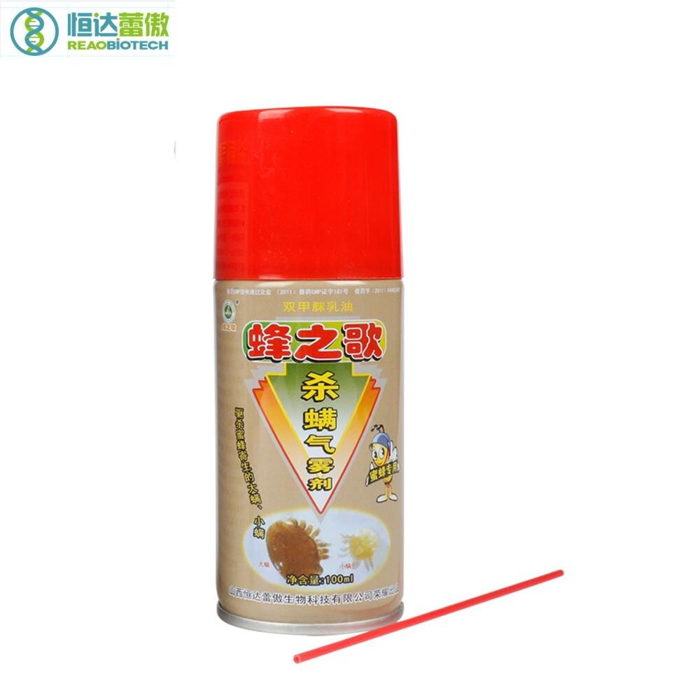 Hengda 100 мл Пчеловодство пчела Miticide медицина Amitraz аэрозоль спрей пчелы лекарства