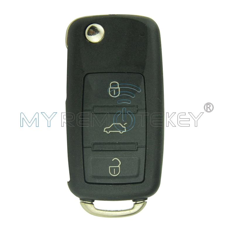 Новый Автомобильный ключ-раскладушка с 3 кнопками Touareg 434 МГц ID46 чип 1K0959753AA для VW Remtekey складной Автомобильный ключ-раскладушка