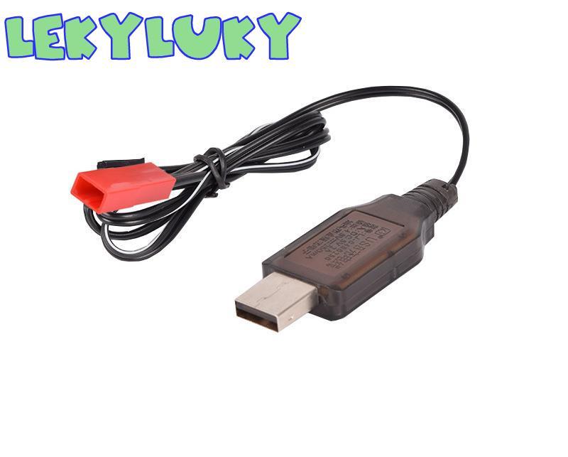 LEKYLUKY 4.8 V USB charger cable com JST 2 P plug para 4.8 V Ni-MH/4.8 v Ni-CD bateria 2 pçs/lote