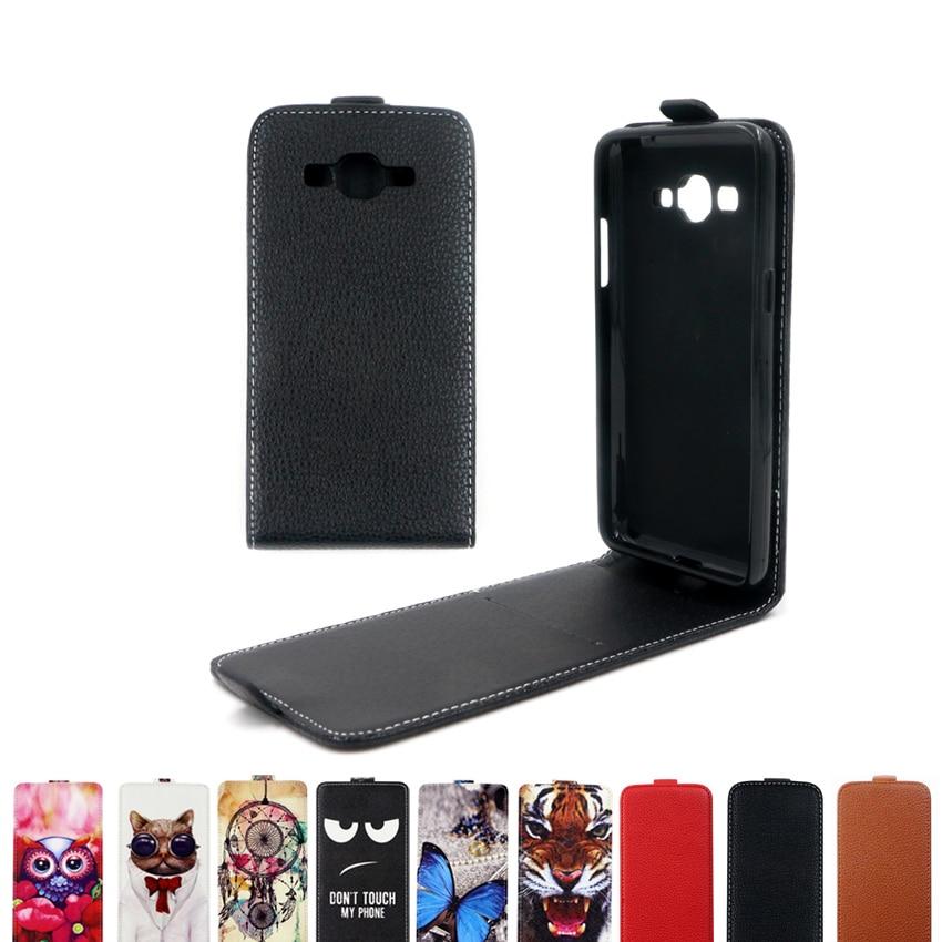 Funda con tapa vertical bolso de cuero funda para Samsung Galaxy Grand Prime VE Duos SM-G531HDS SM-G531H SM-G530 G530 G531 TPU caso suave