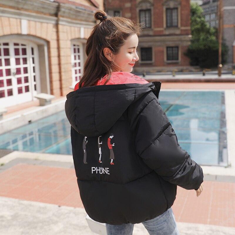 New 2020 Hot Sale Winter Women Jacket Hooded Oversize Female Coat Short Coats Parka Outwear Both Two