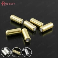 b02550 pcs 9 4x2 8mm 11x3 8mm gold color plated brass rubber hat pin brooch stopper diy jewelry findings accessories