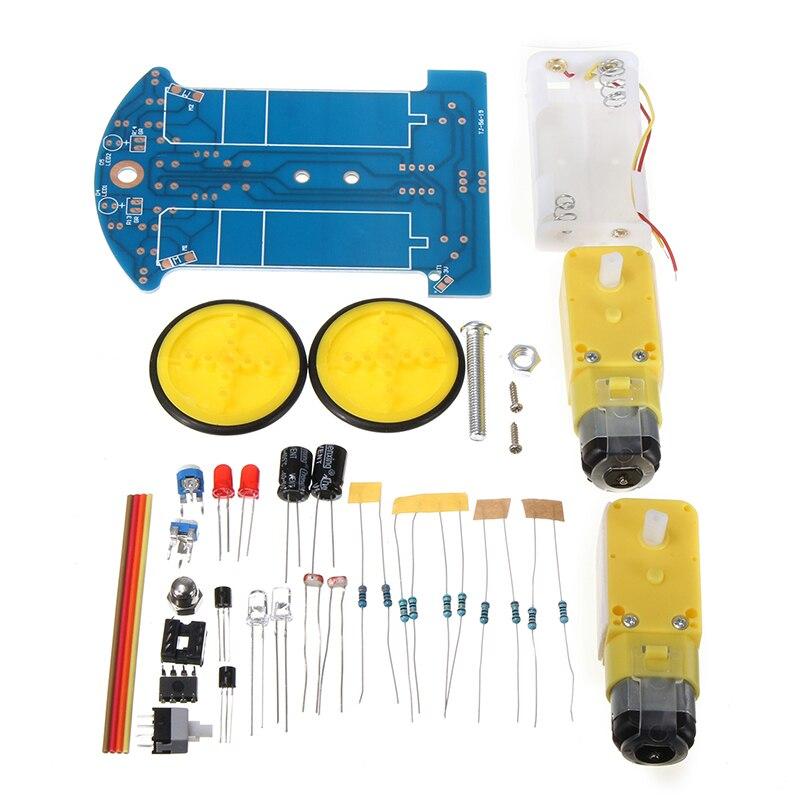 Elektrische Smart Tracking Roboter Auto DIY Kits Auto Fahrzeug Tracking Kit Mit Reduktion Gearded DC Motor Robotik Widerstand Mayitr