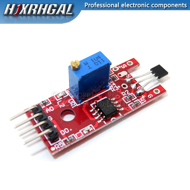 5PCS 4pin KY-024 Linear Magnetic Hall Switches Speed Counting Sensor Module for arduino DIY Kit