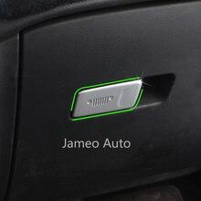 Car Copilot Glove Box Door Bowl Handle Cover Trim Fit for Jeep Renegade 2014 2015 2016 2017 2018 2019 LHD Jameo Auto