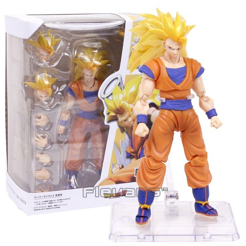 Dragon Ball Z Súper Saiyajin 3 Goku PVC figura de acción de juguete de modelos coleccionables con caja de venta al por menor