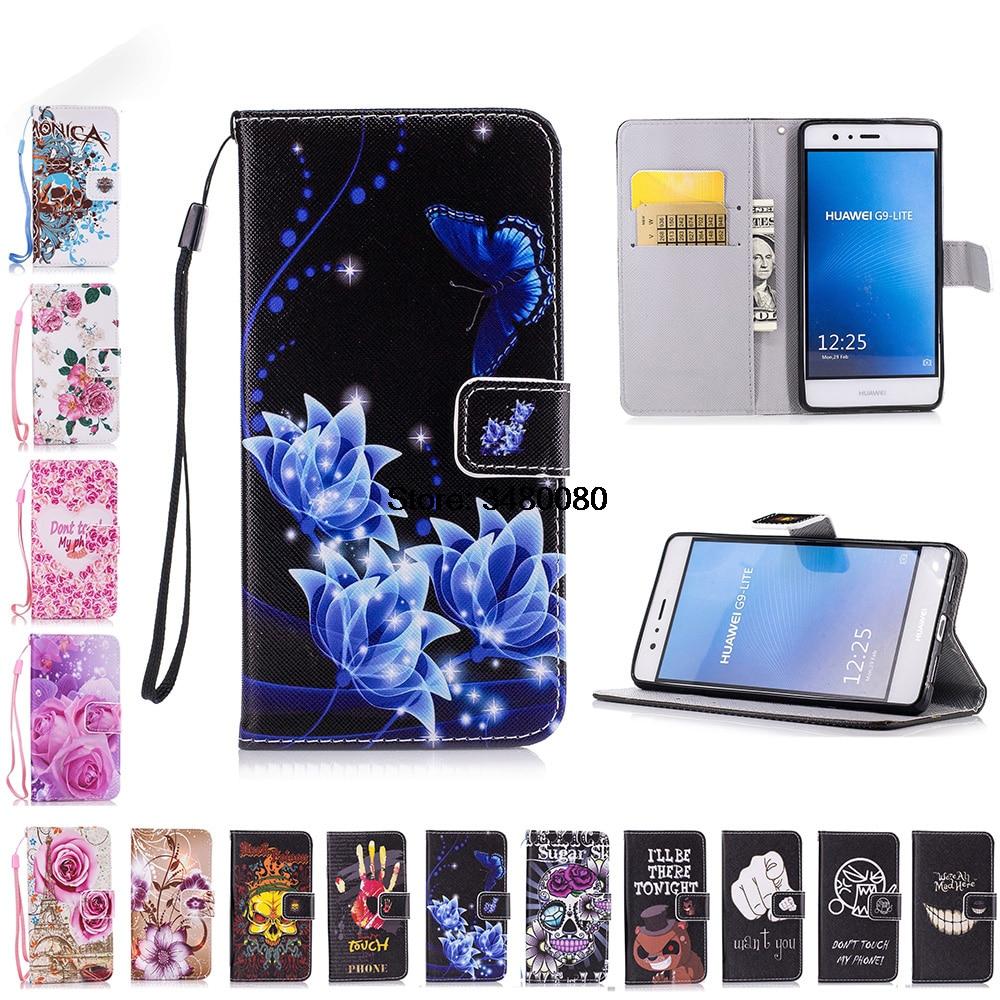Flip Fall Für Huawei P9 Lite P 9 Lite VNS-L21 VNS-L31 Fall Telefon Leder Abdeckung Für Huawei P9Lite VNS L21 l31 L22 L23 schwarz tasche