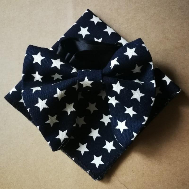 Oakpeibao-cravate étoile à fleurs   Noir, en coton, noeud papillon hanky, smoking pour hommes, Lazo, cravate Hankie, ensemble daccessoires