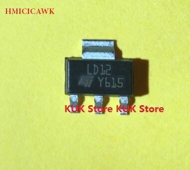 100% Original nuevo LD12 LD1117S12TR LD1117S12 1117-12 1117-1,2 SOT-223, 100 unids/lote