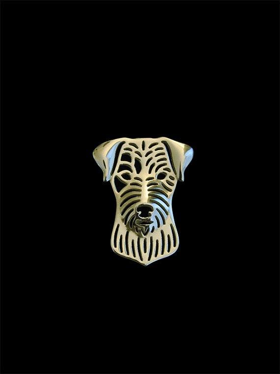 De moda lindo Parson Russell Terrier broches vintage hombres joyería broches de moda mano de rey