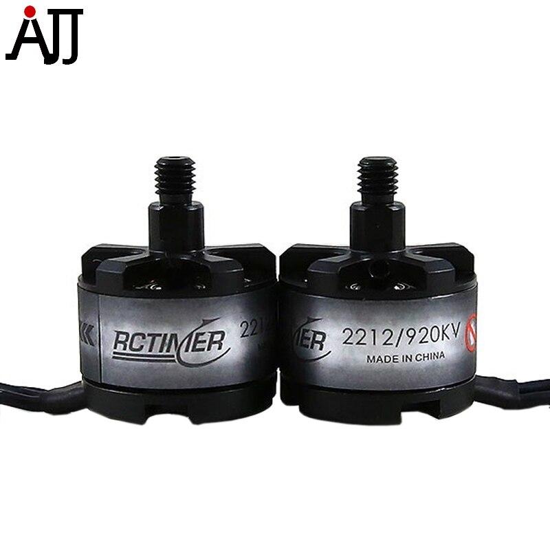 2 pçs/lote Rctimer 2212 CW CCW Do Motor Brushless 920KV SL2212 12N14P 3 compatível-6 S Lipo/20A ESC RC Quad FPV Multi-Motores de Rotor