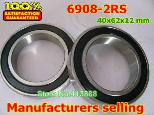 (1 uds) rodamientos de acero inoxidable SUS440C resistentes a la corrosión ambiental (cubierta de sello de goma) S6908-2RS 40*62*12mm