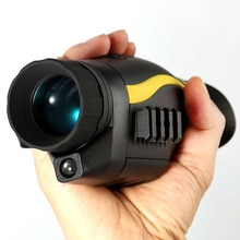 Monocular Digital de caza de visión nocturna 4x35 con función de grabación de vídeo, equipo de iluminación auxiliar infrarroja para caza