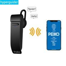 Voor Dropshipping Groothandel Peiko Vertalen Oortelefoon Draadloze Business Oordopjes 27 Talen Bluetooth Vertaler Headset