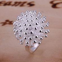 Livraison gratuite 925 bijoux bague plaquée argent, de haute qualité, sans nickel, anneau de feux dartifice antiallergique xjrc qqgd