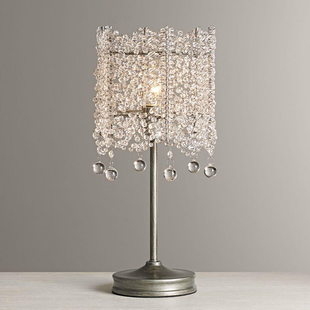 Lámpara de mesa vintage de alta calidad, luces de mesa de cristal AC110V 220v, iluminación de cristal para el hogar