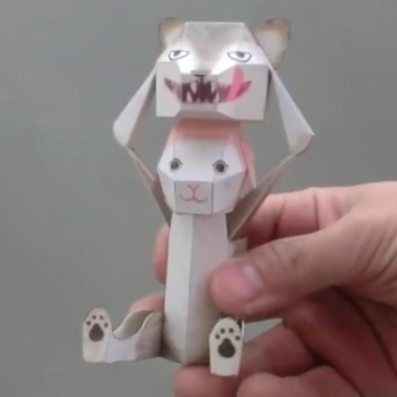 Bricolaje decoración para scrapbook papel DHaruki Nakamura de papel conejo juguetes Pikachu Origami Kirigami plegado Decouvrez Adorables Papertoys