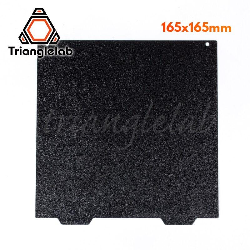 Trianglelab-لوح بناء PEI للطابعة Creality Ender ، لوح فولاذي مزدوج الوجه 165x165 ، مطلي بالمسحوق
