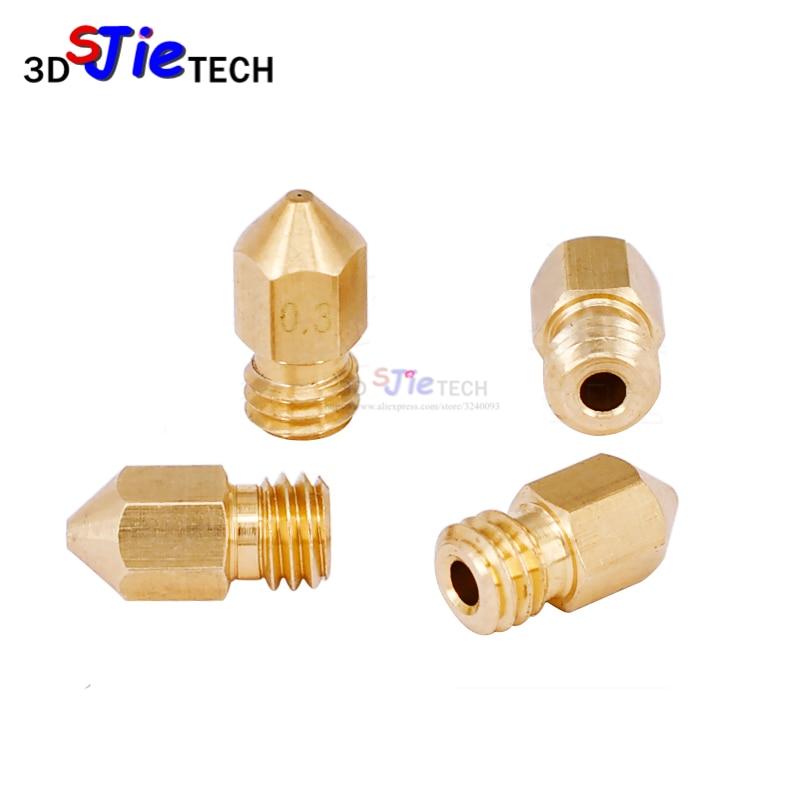 Boquilla de impresora 3D MK8 0,2mm/0,3mm/0,4mm/0,5mm boquilla de latón para filamento MK8 hotend para 1,75mm