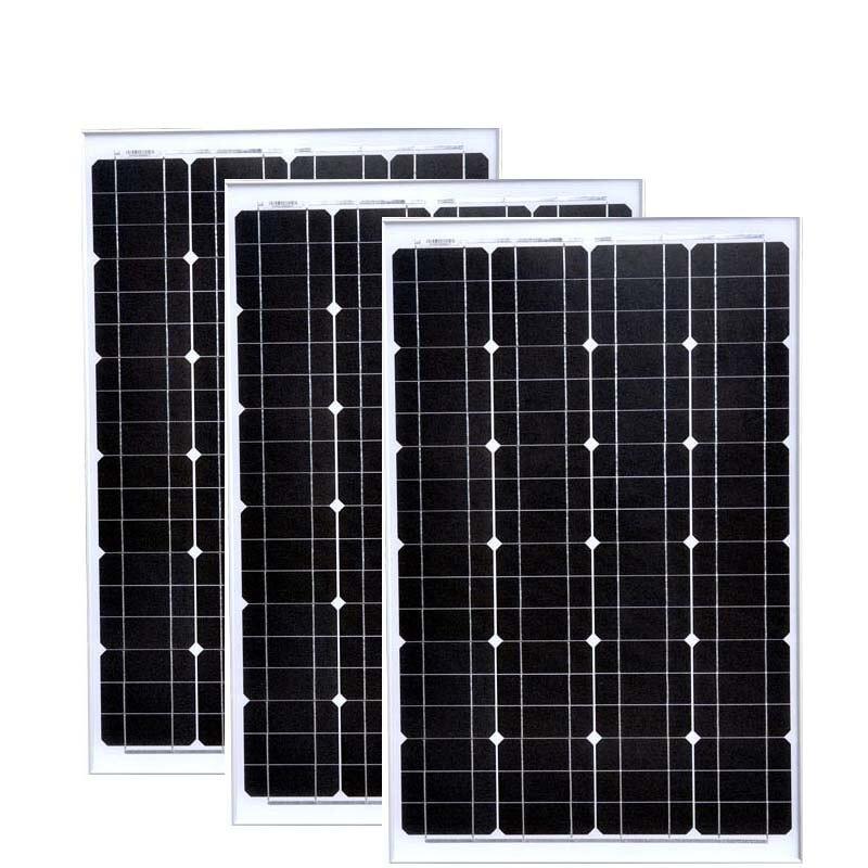 Paneles solares de 180w, 36v, 18v, 60w, 3 uds., Cargador de teléfono Solar, luces Led de 12v para Autocaravanas