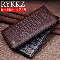 rykkz genuine leather flip case for nubia z18 cover magnetic case for nubia z18 z18 mini cases leather cover phone cases fundas