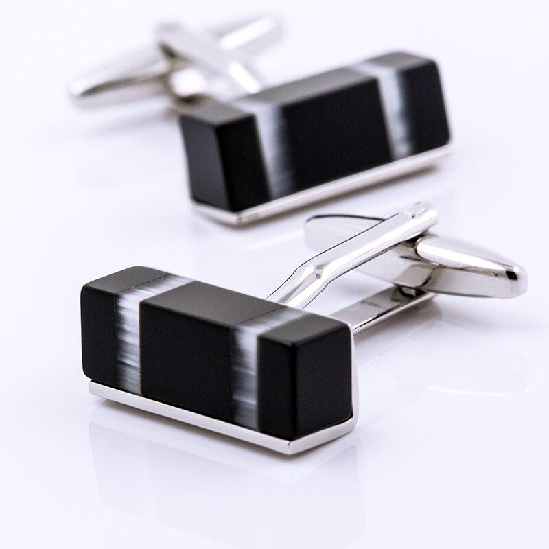 KFLK ювелирные изделия для мужчин бренд высокое качество рубашки запонки черный Куб Запонки Модный свадебный подарок Кнопка гостей
