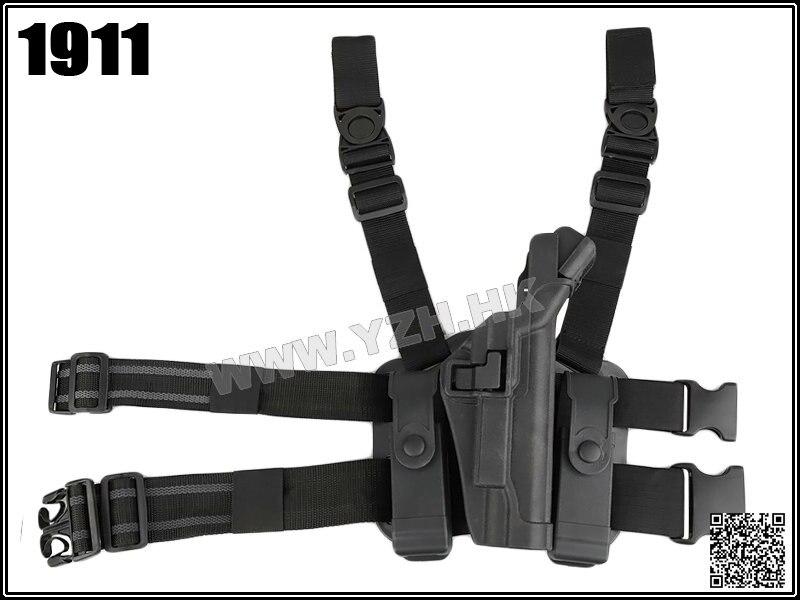 Blackhawk Military Tactical LV3 SERPA LIGHT BEARING HOLSTER SET Compact RH Drop Leg 1911 holste