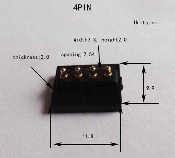 4pin 4 p conector pogo pin atual entre em contato com a sonda de agulha agulha banhado