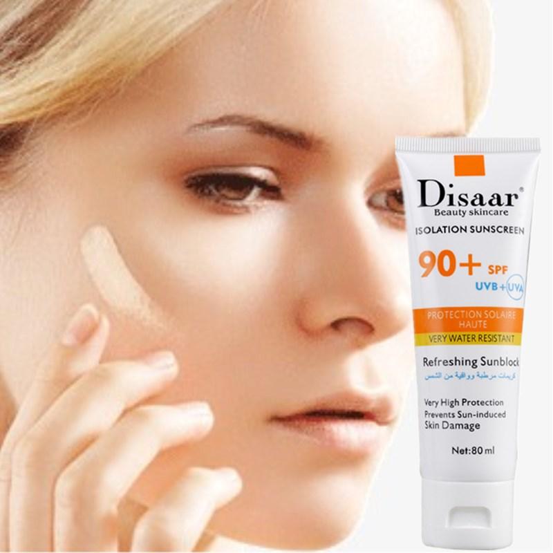 Отбеливающая Подушка DISAAR 80 мл SPF90PA + +, изоляционная Солнцезащитная основа для макияжа, крем для удаления шрамов