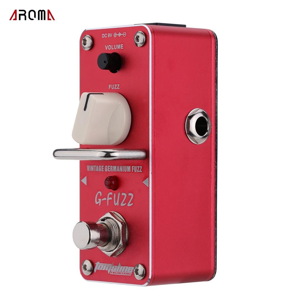 Aroma AGF-3 G-FUZZ efeito de guitarra pedal do vintage germânio fuzz guitarra pedal mini analógico true bypass peças & acessórios