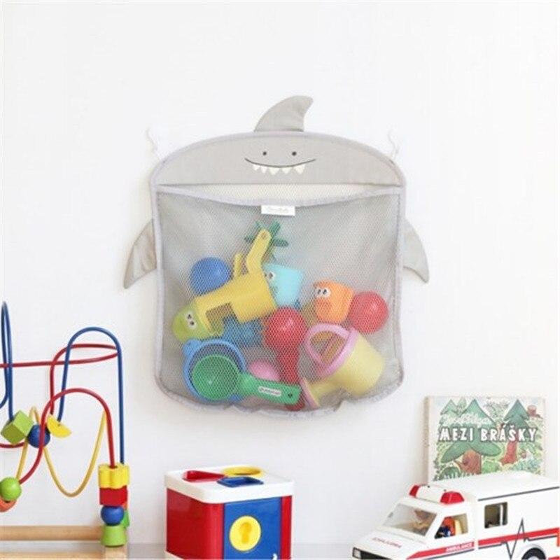 1Pcs 40*35 CM Baby Bath Net Bag Toys Storage Suction Bag Folding Hanging Mesh Net Bathroom Shower To