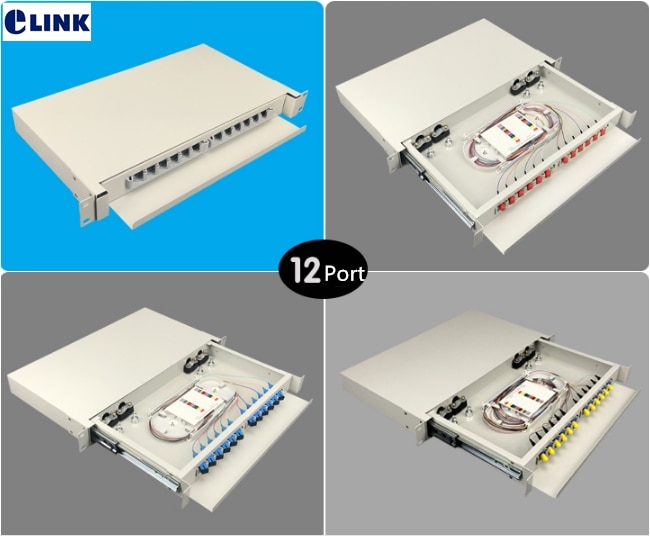 DHL free 1U fiber Thickened termination box 12/24 core SC ST FC LC installed fully Blank patch panel 3KGs 19
