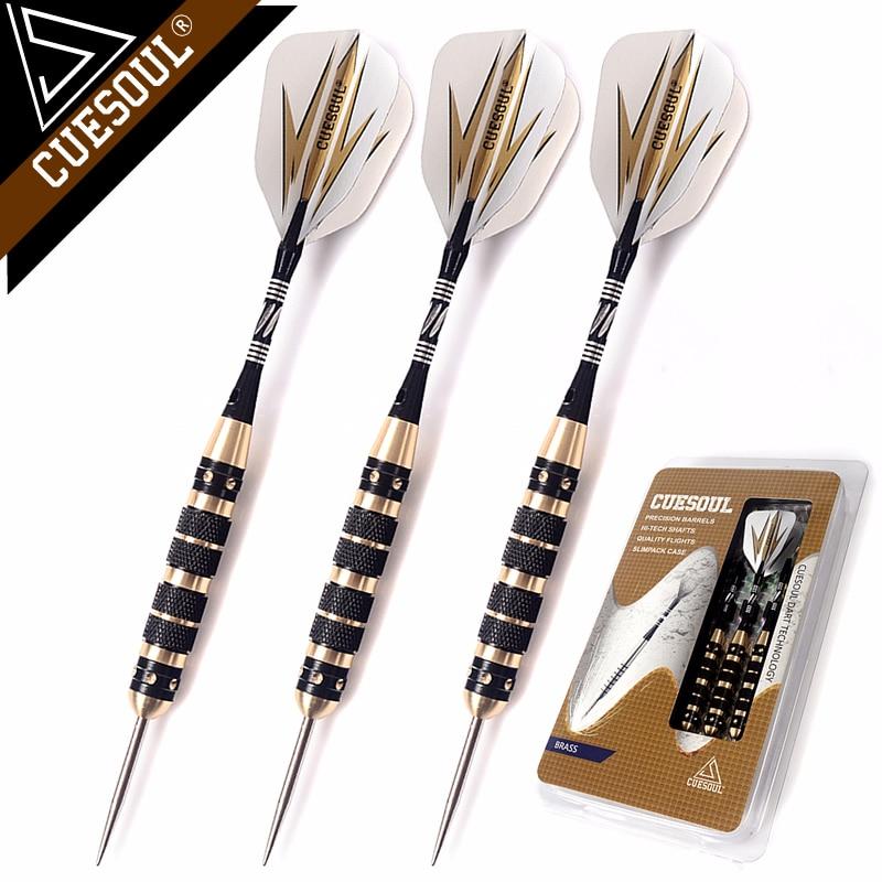 CUESOUL Professional Archer 20/23/26 Grams Steel Tip Darts -- Black Coating Brass Barrels cuesoul 21g professional darts 90