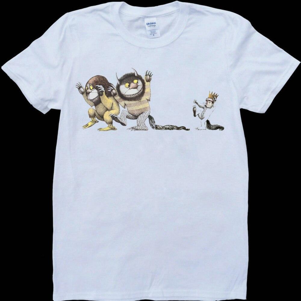 Donde Wild Things nueva Moda hombre Camiseta de algodón O cuello para hombres de manga corta Camiseta de hombre Tops camisetas al por mayor