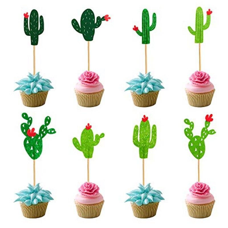 Cactus Del Bigné Toppers Cactus Fiesta Ovest Lama Tema di Addio Al Nubilato Bambino Graduation Estate Festa di Compleanno Taco Del Partito Taco Decor
