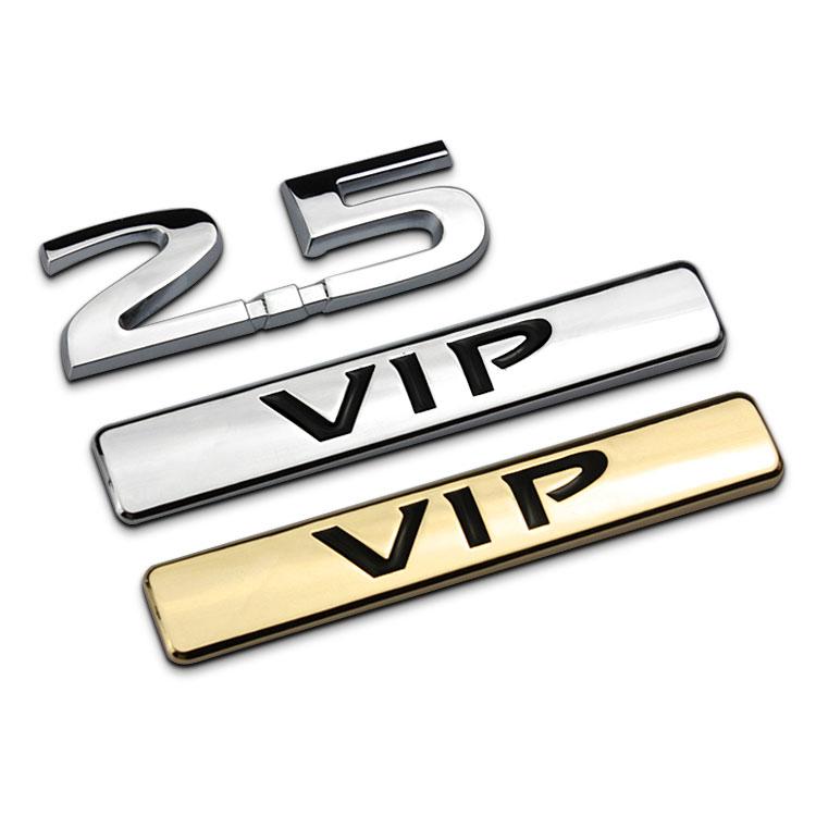 1 sztuk 3D chrome 2.5 VIP odznaka Logo Fender znaczek na samochód dla Auto Car Boot Trunk naklejki samochodowe car Styling
