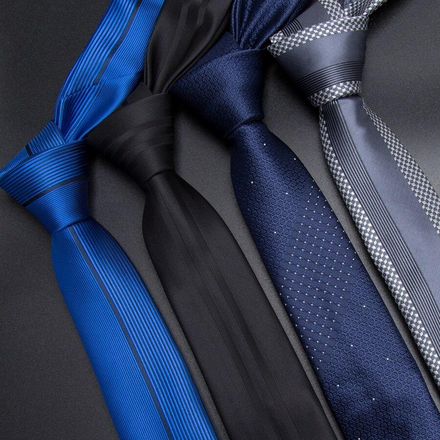 Мужской галстук 5 см Узкие галстуки роскошные мужские модные полосатые галстуки жаккардовые галстуки деловые мужские свадебные строгие Га...