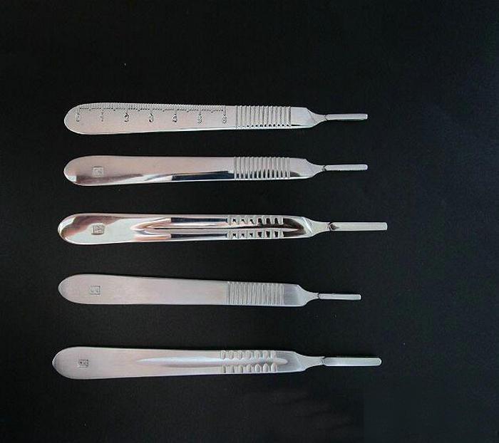 1 Uds. No.3 o No.4 mango de cuchilla quirúrgica de acero inoxidable con empuñadura para Graver PCB Art DIY Tools etc.