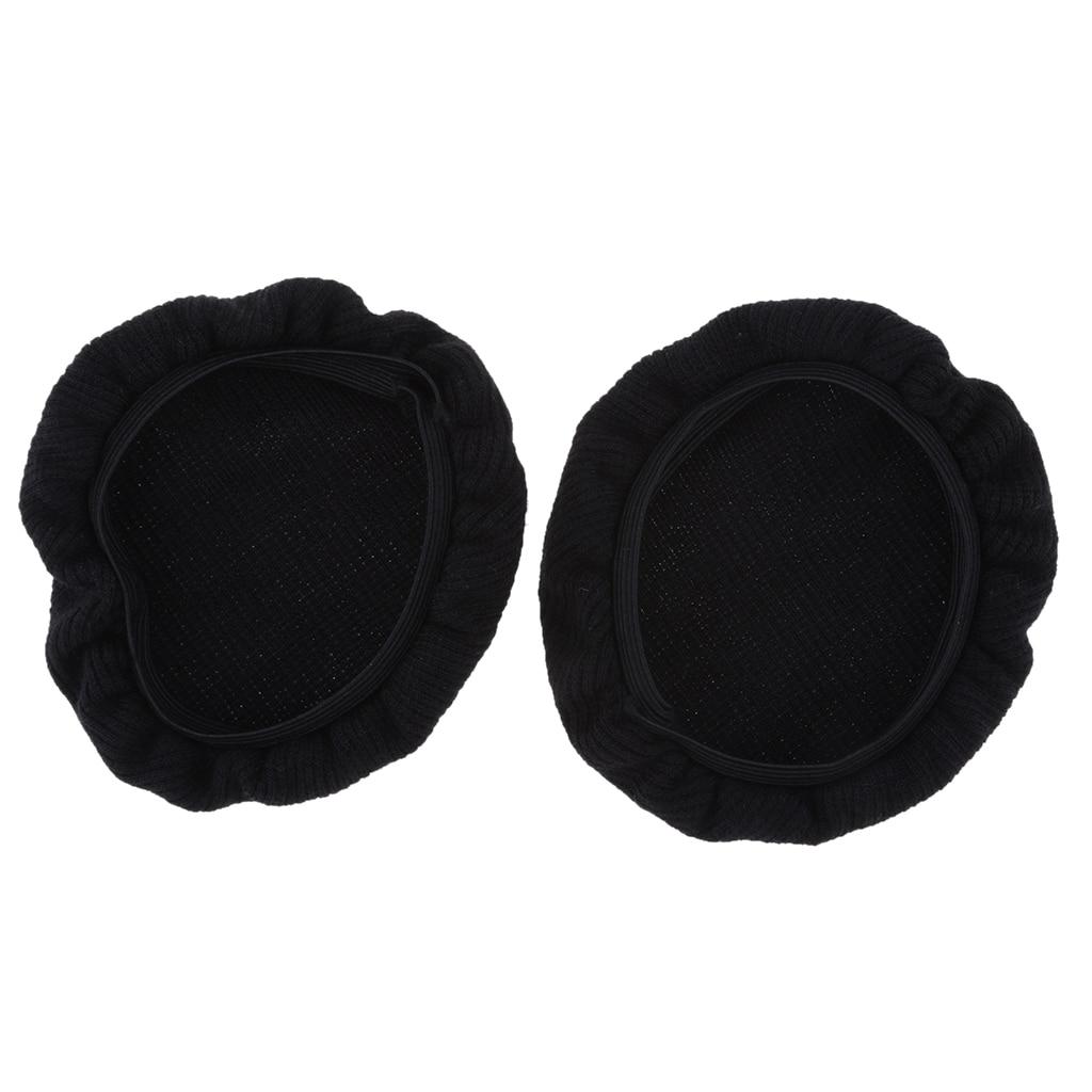 2019 cubiertas para auriculares de tela estirable/lavable sanitario, cubiertas para auriculares aptas para auriculares dentro de 6-8,5 cm auriculares