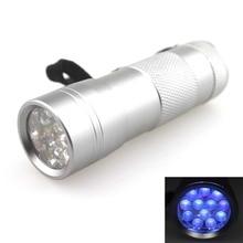 12 piezas 395nm UV linterna LED (3 xAAA)