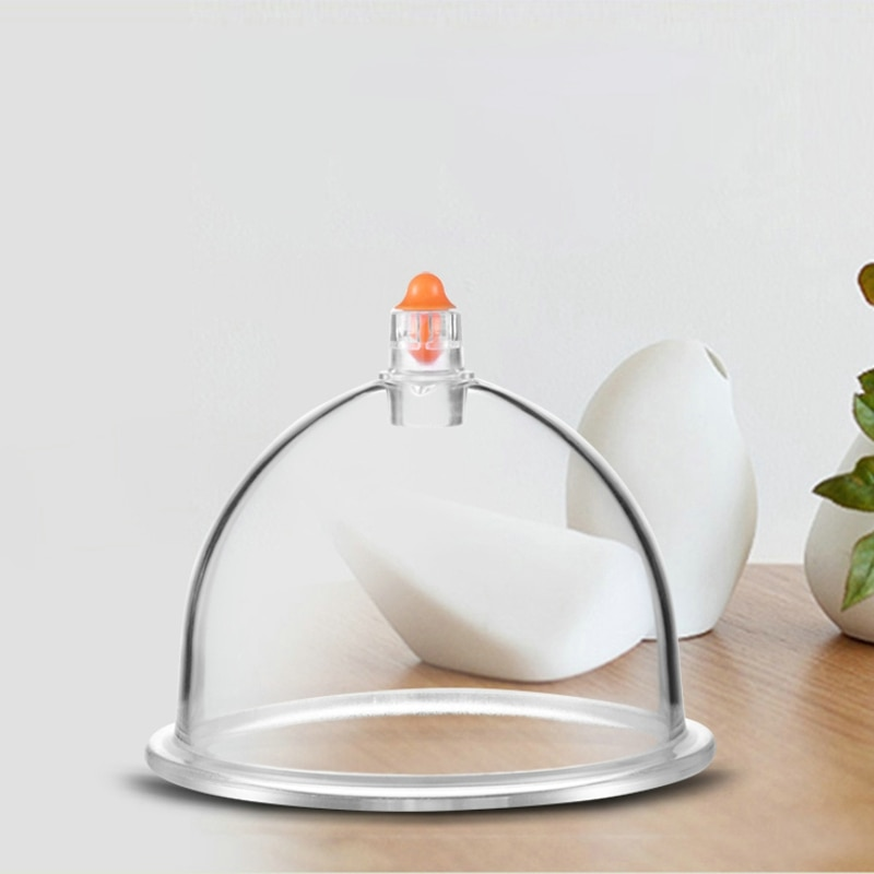 Ventosa Terapia al vacío, herramienta de cuidado para la espalda del cuerpo, taza de plástico para el hogar, tipo de bombeo, Terapia de Gas suelto y espesante