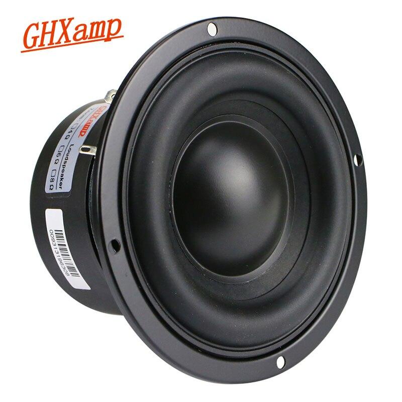 GHXAMP 4-дюймовый низкочастотный сабвуфер, динамик 4ohm 40 Вт, полимерная крышка, длинный ход, резина для компьютера, мультимедийный динамик, обновление 1 шт.
