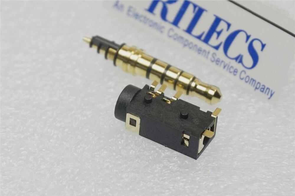 5 uds jack para teléfono macho y hembra de 5 polos 3,5mm 5 enchufe con pines y enchufe para auriculares estéreo Tipo SMD Cable de reflujo DC30V 0.5A Rohs