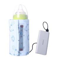חדש USB תינוק בקבוק חלב חם נייד נסיעות ספל חלב חם מחמם דוד האכלת בקבוק תינוק אחסון תיק