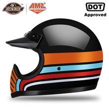 Casque de moto rcycle   AMZ nouveau casque de moto rcycle, casco moto cross, Vintage en fiber de verre moto rbike capacité complète